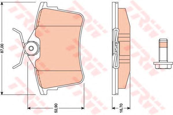 Колодки тормозные дисковые TRW/Lucas GDB1799GDB1799