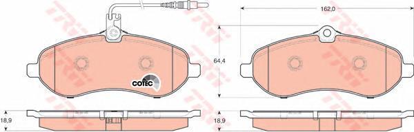 Колодки тормозные дисковые TRW/Lucas GDB1719GDB1719