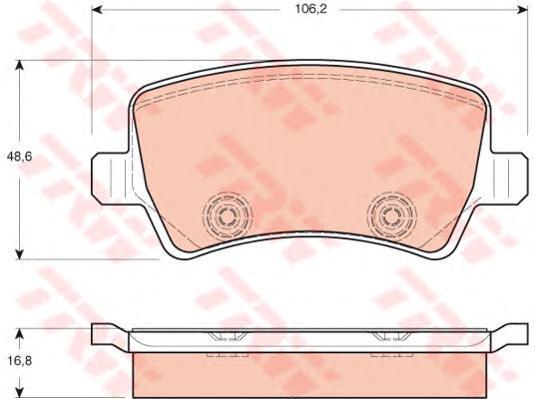 Колодки тормозные дисковые TRW/Lucas GDB1685GDB1685