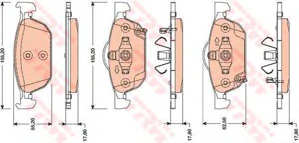 Колодки тормозные дисковые TRW/Lucas GDB3476GDB3476