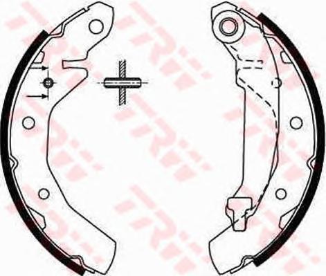 Колодки тормозные барабанные TRW/Lucas GS8645GS8645
