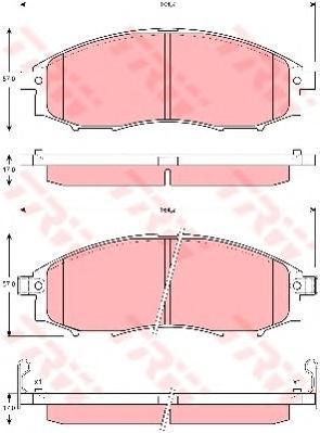 Колодки тормозные дисковые TRW/Lucas GDB3340GDB3340