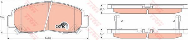 Колодки тормозные дисковые TRW/Lucas GDB3268GDB3268