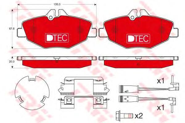 Колодки тормозные передние TRW/Lucas GDB1542DTEGDB1542DTE