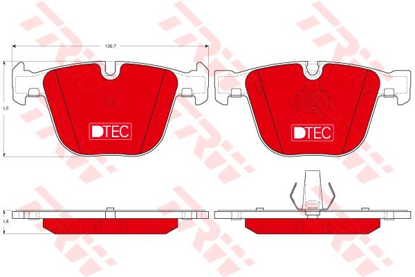 Колодки тормозные задние TRW/Lucas GDB1502DTEGDB1502DTE