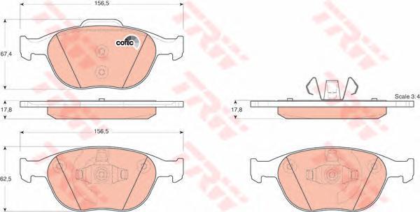 Колодки тормозные дисковые TRW/Lucas GDB1532GDB1532