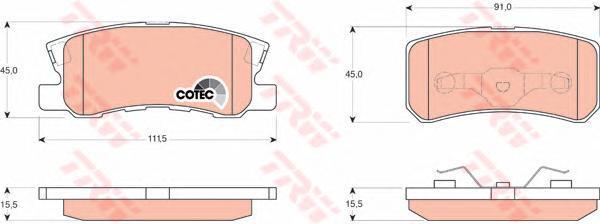 Колодки тормозные дисковые TRW/Lucas GDB3247GDB3247