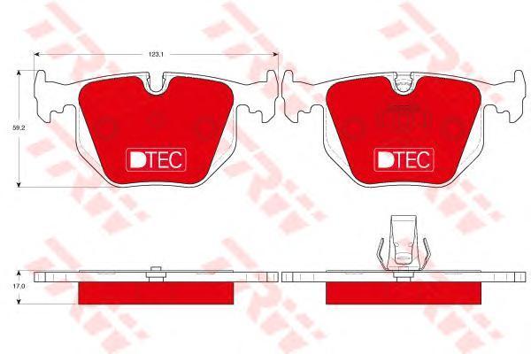 Колодки тормозные задние TRW/Lucas GDB1530DTEGDB1530DTE