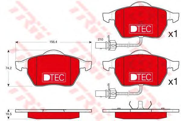 Колодки тормозные передние TRW/Lucas GDB1307DTEGDB1307DTE