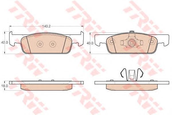 Колодки тормозные передние TRW/Lucas GDB2016GDB2016