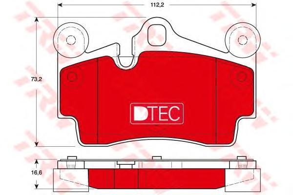 Колодки тормозные задние TRW/Lucas GDB1653DTEGDB1653DTE