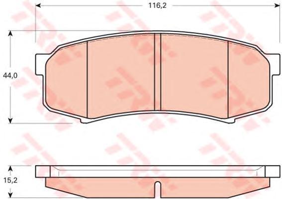 Колодки тормозные дисковые TRW/Lucas GDB3464GDB3464