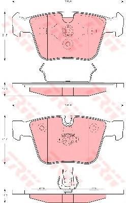 Колодки тормозные дисковые TRW/Lucas GDB1675GDB1675
