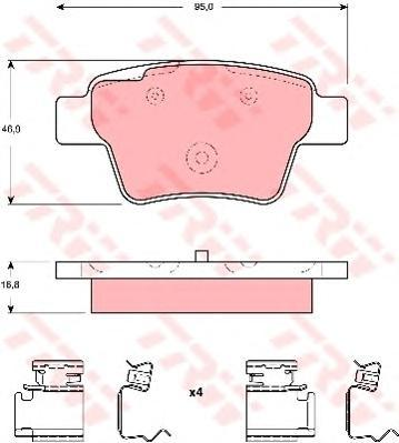 Колодки тормозные дисковые TRW/Lucas GDB1678GDB1678