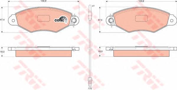 Колодки тормозные дисковые TRW/Lucas GDB1402GDB1402
