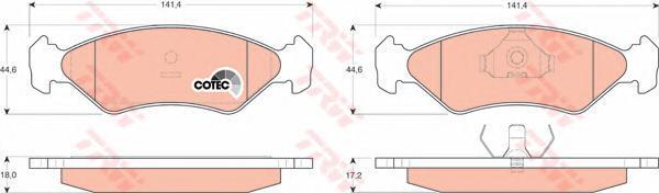 Колодки тормозные дисковые TRW/Lucas GDB953GDB953