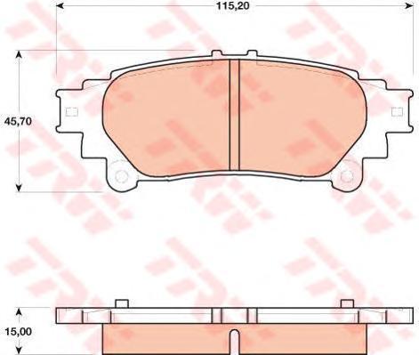 Колодки тормозные дисковые TRW/Lucas GDB4174GDB4174