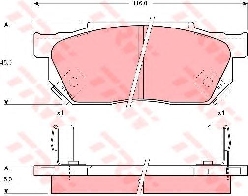 Колодки тормозные дисковые TRW/Lucas GDB325GDB325