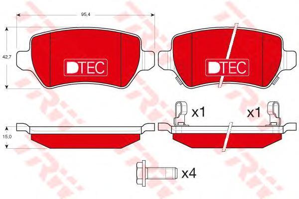 Колодки тормозные задние TRW/Lucas GDB1515DTEGDB1515DTE