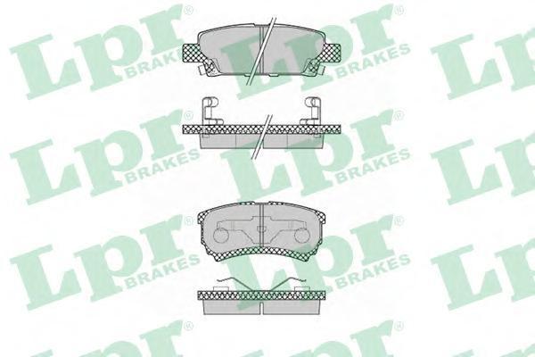 Колодки тормозные дисковые задние LPR / AP 05P137305P1373