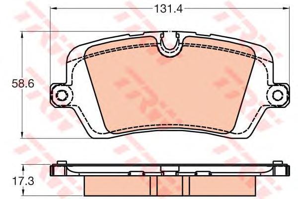 Колодки тормозные задние TRW/Lucas GDB2029GDB2029