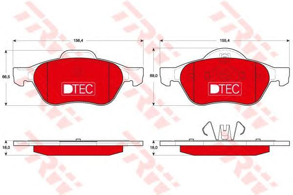 Колодки тормозные передние TRW/Lucas GDB1687DTEGDB1687DTE