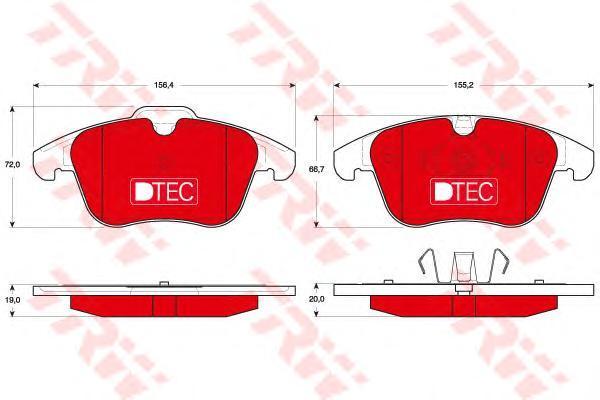 Колодки тормозные передние TRW/Lucas GDB1683DTEGDB1683DTE