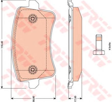 Колодки тормозные дисковые TRW/Lucas GDB1765GDB1765