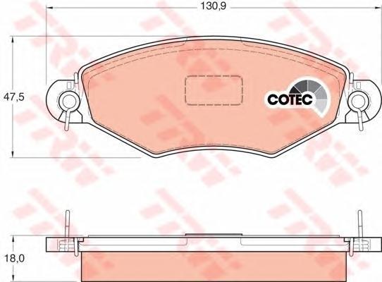 Колодки тормозные дисковые TRW/Lucas GDB1361GDB1361