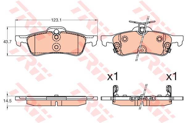 Колодки тормозные задние TRW/Lucas GDB3588GDB3588
