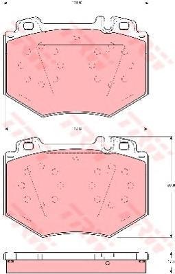 Колодки тормозные дисковые TRW/Lucas GDB1575GDB1575