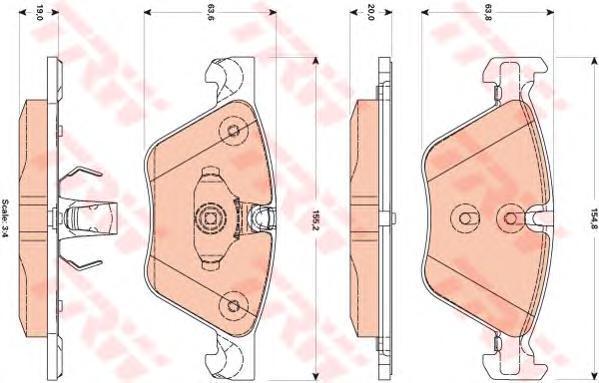 Колодки тормозные дисковые TRW/Lucas GDB1882GDB1882