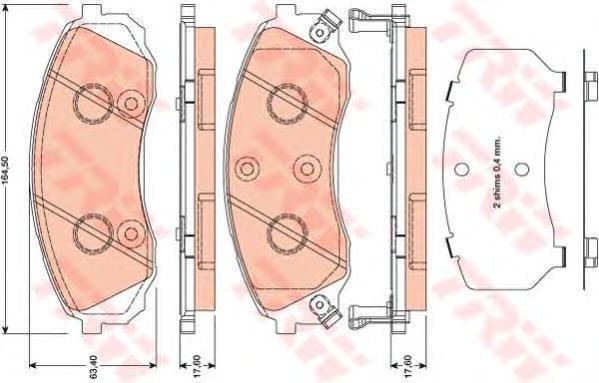 Колодки тормозные дисковые TRW/Lucas GDB3448GDB3448