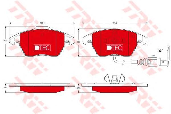 Колодки тормозные передние TRW/Lucas GDB1550DTEGDB1550DTE