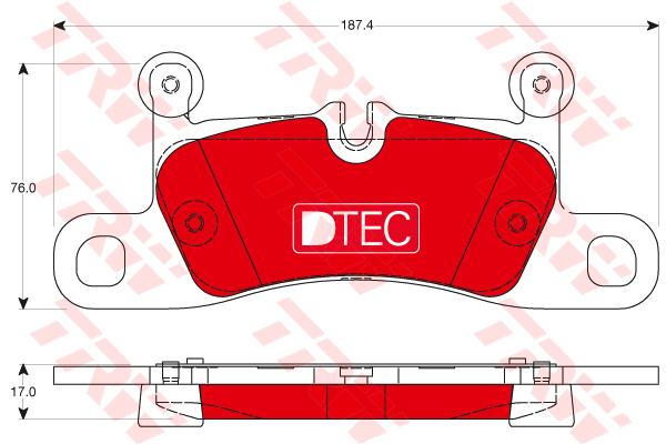 Колодки тормозные задние TRW/Lucas GDB1875DTEGDB1875DTE