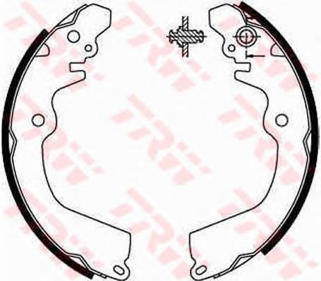 Колодки тормозные барабанные TRW/Lucas GS8666GS8666