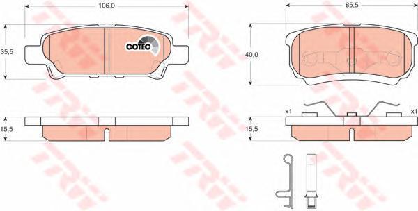 Колодки тормозные дисковые TRW/Lucas GDB3341GDB3341