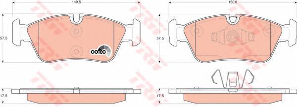 Колодки тормозные дисковые TRW/Lucas GDB1625GDB1625