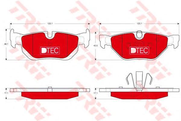 Колодки тормозные задние TRW/Lucas GDB1626DTEGDB1626DTE
