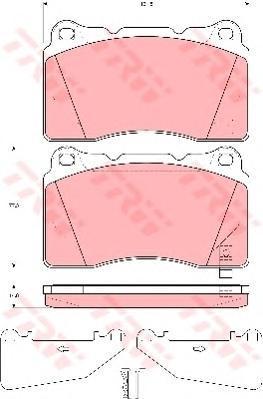 Колодки тормозные дисковые TRW/Lucas GDB3349GDB3349