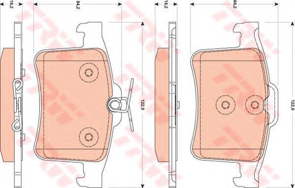 Колодки тормозные дисковые TRW/Lucas GDB1877GDB1877
