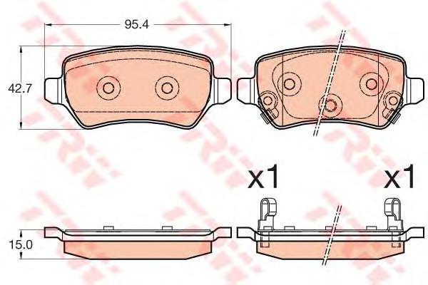 Колодки тормозные задние TRW/Lucas GDB3585GDB3585