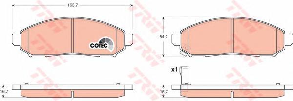 Колодки тормозные дисковые TRW/Lucas GDB3404GDB3404
