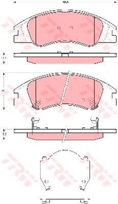 Колодки тормозные дисковые TRW/Lucas GDB3367GDB3367