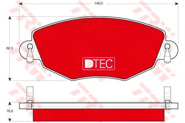 Колодки тормозные передние TRW/Lucas GDB1434DTEGDB1434DTE