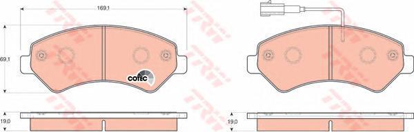 Колодки тормозные дисковые TRW/Lucas GDB1703GDB1703