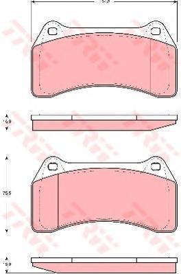 Колодки тормозные дисковые TRW/Lucas GDB1512GDB1512