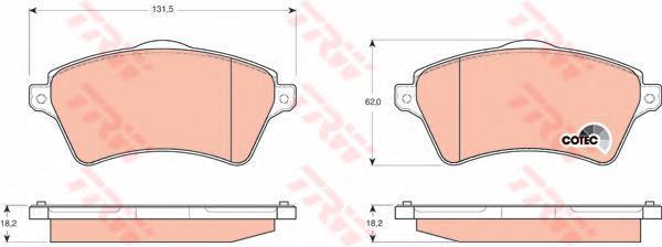 Колодки тормозные дисковые TRW/Lucas GDB1473GDB1473