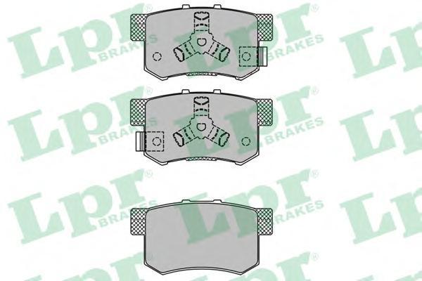Колодки тормозные задниеLPR / AP 05P140405P1404