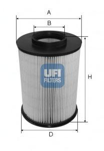 Фильтр воздушный UFI 27675002767500